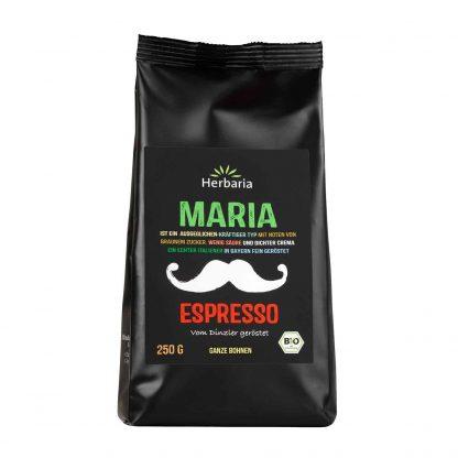 Espresso Maria 250 Gramm packung in Bio-Qualität von Herbaria Kräuterparadies