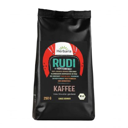 Kaffee Rudi entkoffeiniert 250 Gramm packung in Bio-Qualität von Herbaria Kräuterparadies