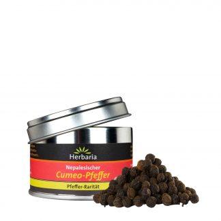 Wilder Cumeo-Pfeffer 25 Gramm Weißblechdose in Bio-Qualität von Herbaria Kräuterparadies
