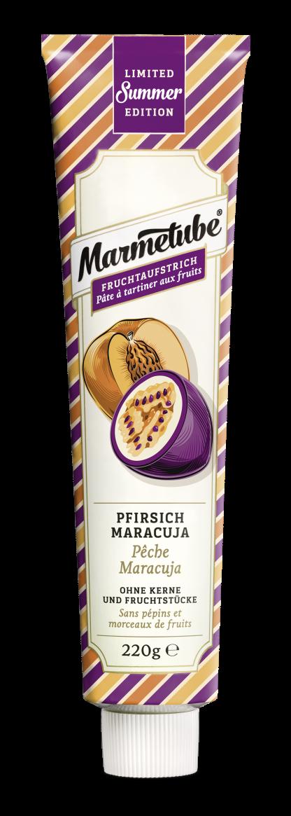 Fruchtaufstrich Pfirsich Maracuja von Marmetube