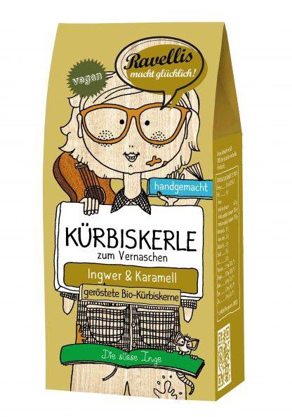 Kürbiskerle: Die süße Inge 80 Gramm Packung in Bio-Qualität von Ravellis