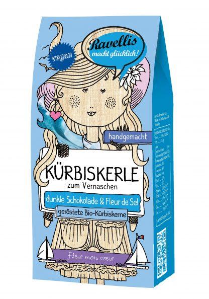 Bio-Kürbiskerle: Fleur mon coeur 80 Gramm Packung in Bio-Qualität von Ravellis