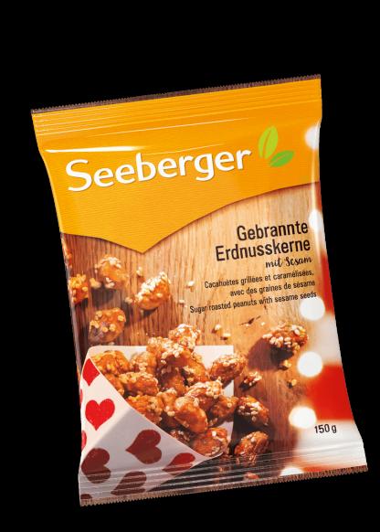 Gebrannte Erdnusskerne mit Sesam von Seeberger