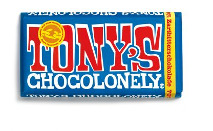 Zartbitterschokolade 70 % 180 g Tafel von tony's Chocolonely
