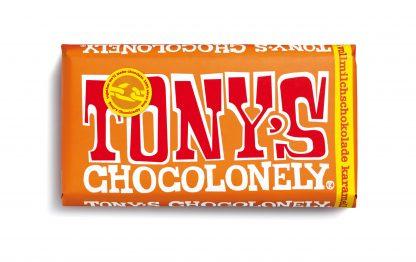 Vollmilchschokolade 32% Karamell Meersalz 180 Gramm Tafel von tony's Chocolonely
