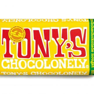 Vollmilchschokolade 32% Nougat 180 g Tafel von tony's Chocolonely