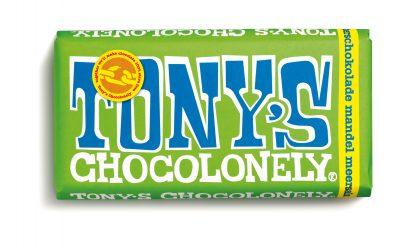 Zartbitterschokolade 51% Mandel Meersalz 180 g Tafel von tony's Chocolonely