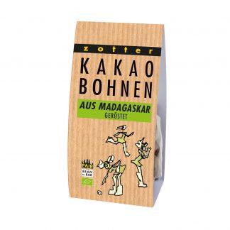 Kakaobohnen Madagaskar 100 Gramm Packung in Bio-Qualität von Zotter