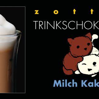 Schachtel Milch Kakao Trinkschokolade in Bio-Qualität von Zotter