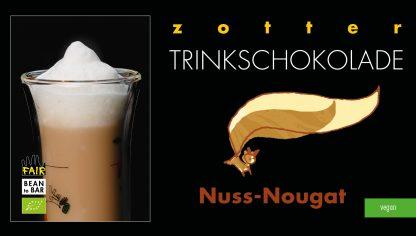 Schachtel Nuss-Nougat Trinkschokolade in Bio-Qualität von Zotter