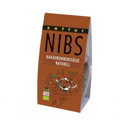 NIBS - naturell 100 Gramm Packung in Bio-Qualität von Zotter