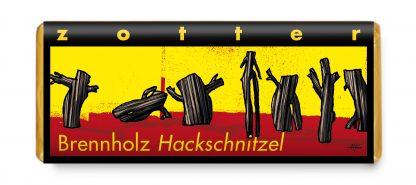 Brennholz Hackschnitzel 70 Gramm Tafel in Bio-Qualität von Zotter