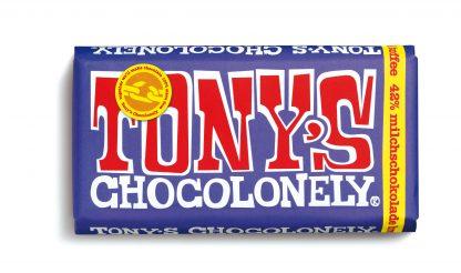 Dunkle Vollmilchschokolade 42% Brezel Toffee 180 g Tafel von tony's Chocolonely