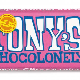 Weiße Schokolade mit Himbeere und Knisterzucker 180 g Tafel von tony's Chocolonely